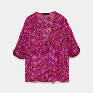 NWT Zara SS18 Size XS Fuchsia Crop Top